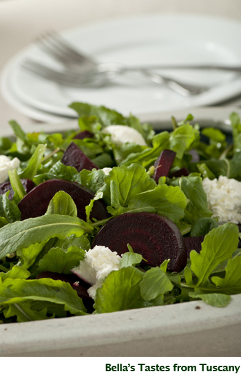 Bella's Arugula and Beet Salad with Goat Cheese - GailMencini.com