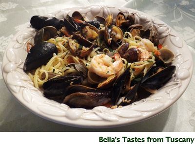 Bella's Linguine with Seafood - GailMencini.com