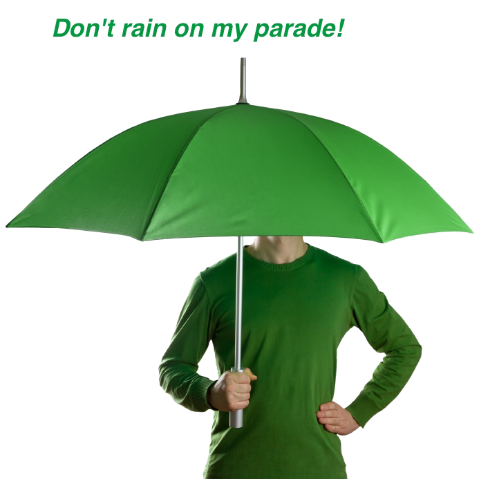 GREEN UMBRELLA_Don't Rain on my Parade!