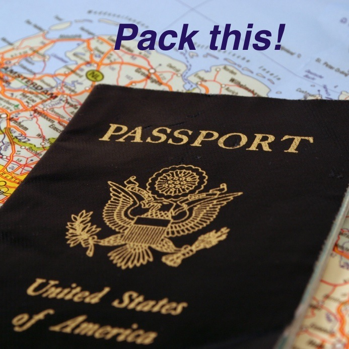 Passport on world map-Pack this!