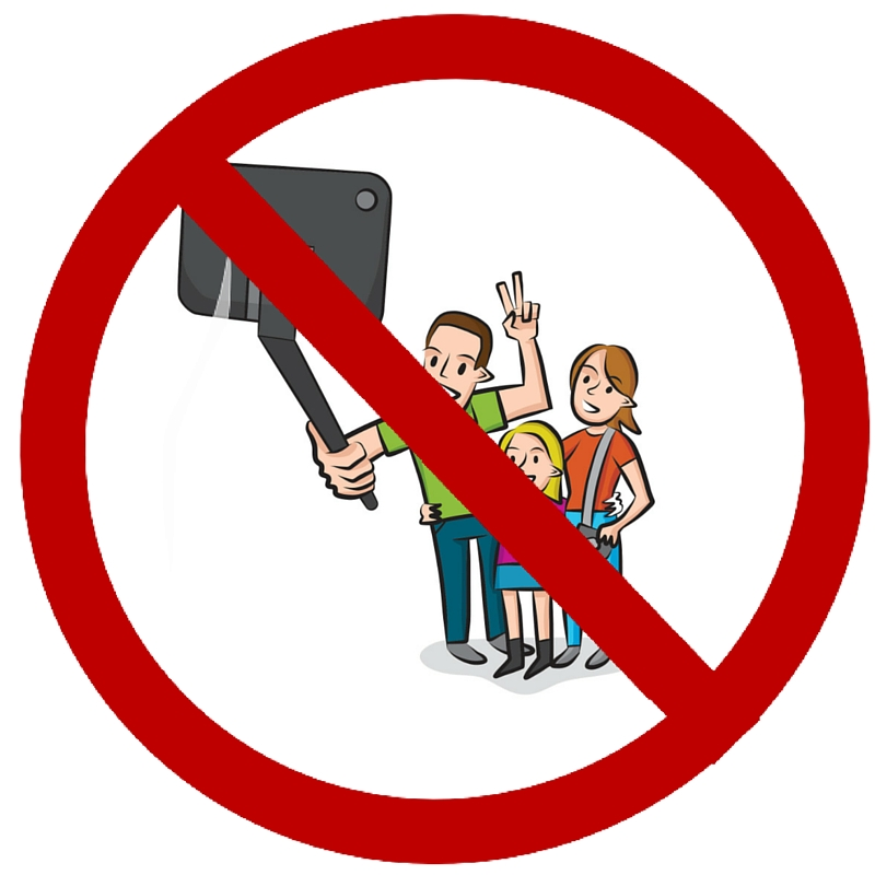 the top 10 reasons to not use a selfie stick on vacation. Black Bedroom Furniture Sets. Home Design Ideas